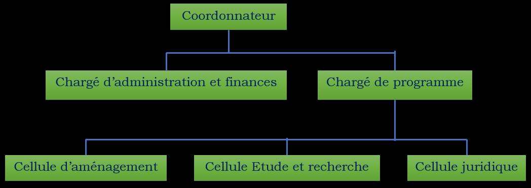 Organigramme de la coordination de OCEAN